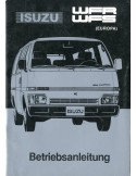 1986 ISUZU WFR WFS INSTRUCTIEBOEKJE DUITS