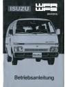 1986 ISUZU WFR WFS OWNER'S MANUAL GERMAN