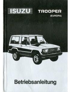 1990 ISUZU TROOPER INSTRUCTIEBOEKJE DUITS