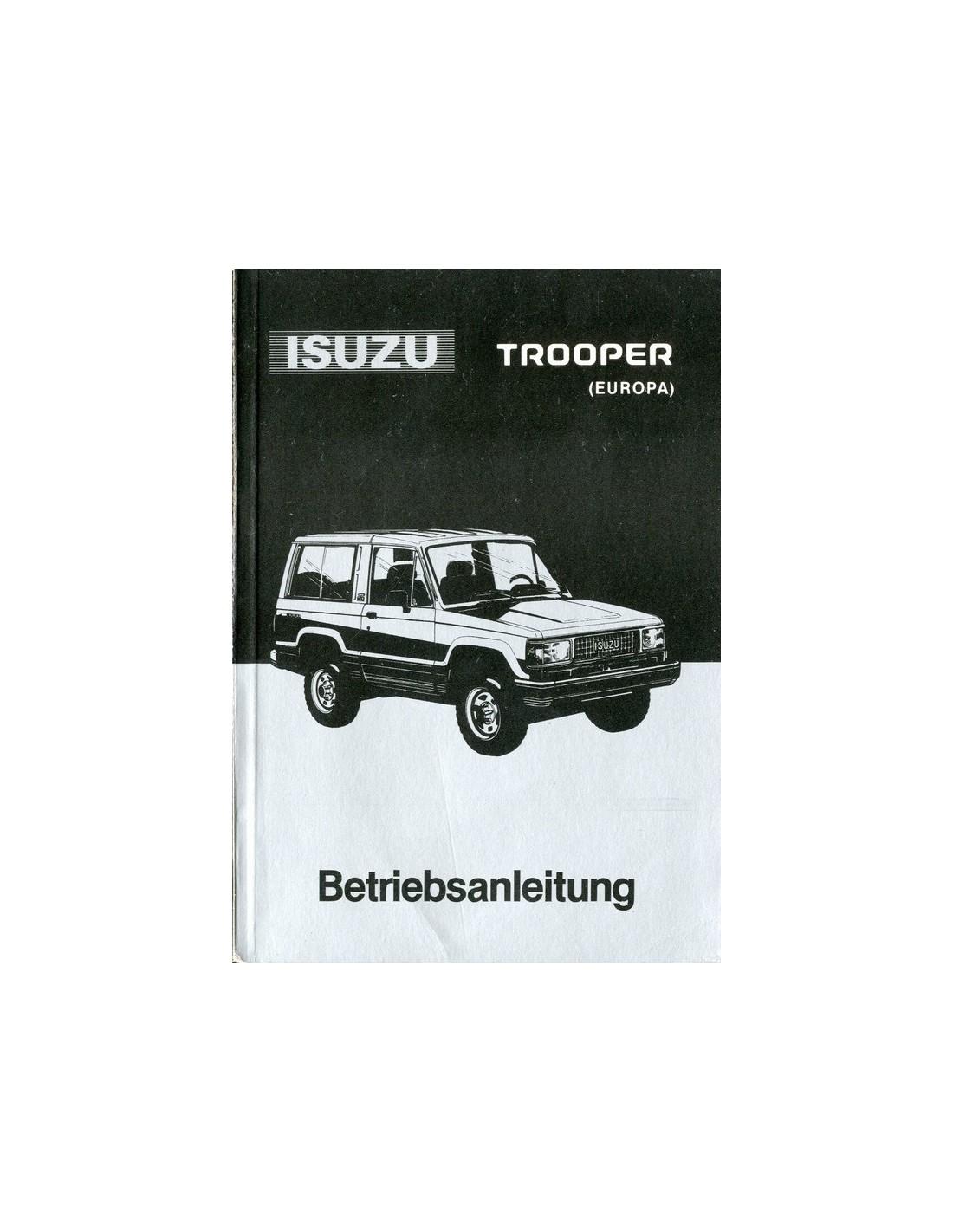 1990 isuzu trooper owner s manual german rh autolit eu isuzu trooper user manual isuzu trooper service manual pdf