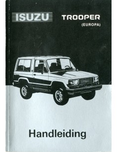 1990 ISUZU TROOPER INSTRUCTIEBOEKJE NEDERLANDS