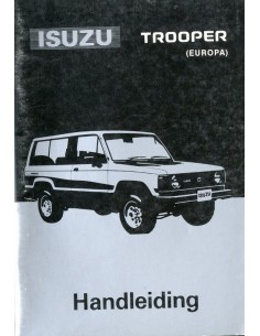 1986 ISUZU TROOPER INSTRUCTIEBOEKJE NEDERLANDS
