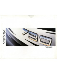 1988 VOLVO 780 BROCHURE NEDERLANDS
