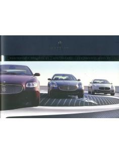 2005 MASERATI QUATTROPORTE V EXECUTEIVE + SPORT GT BROCHURE ENGELS