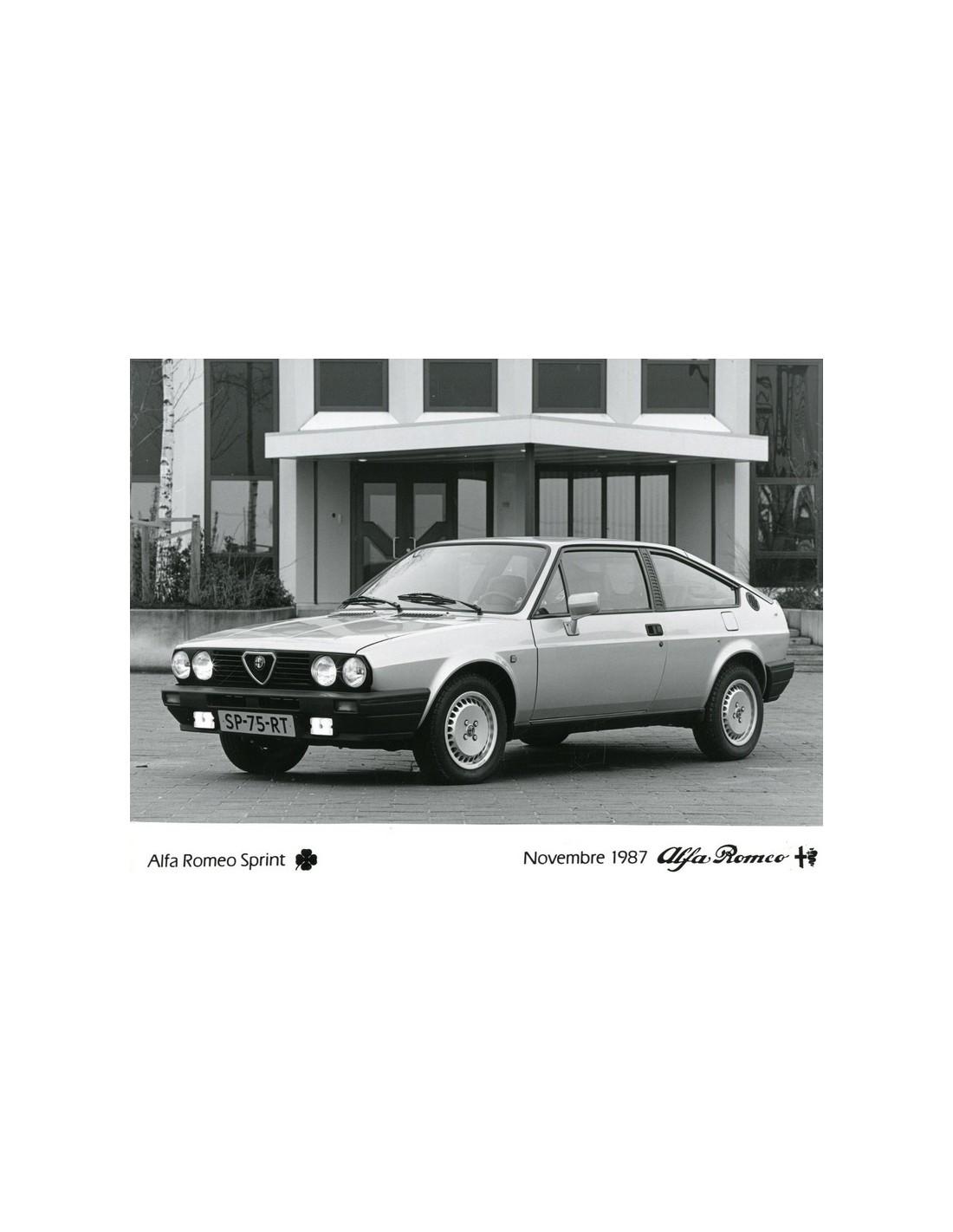 1987 ALFA ROMEO SPRINT QV PRESS PHOTO