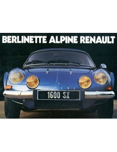 1976 ALPINE BERLINETTE BROCHURE DUITS