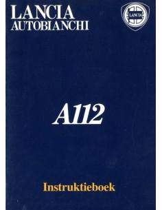 1983 AUTOBIANCHI A112 INSTRUCTIEBOEKJE NEDERLANDS