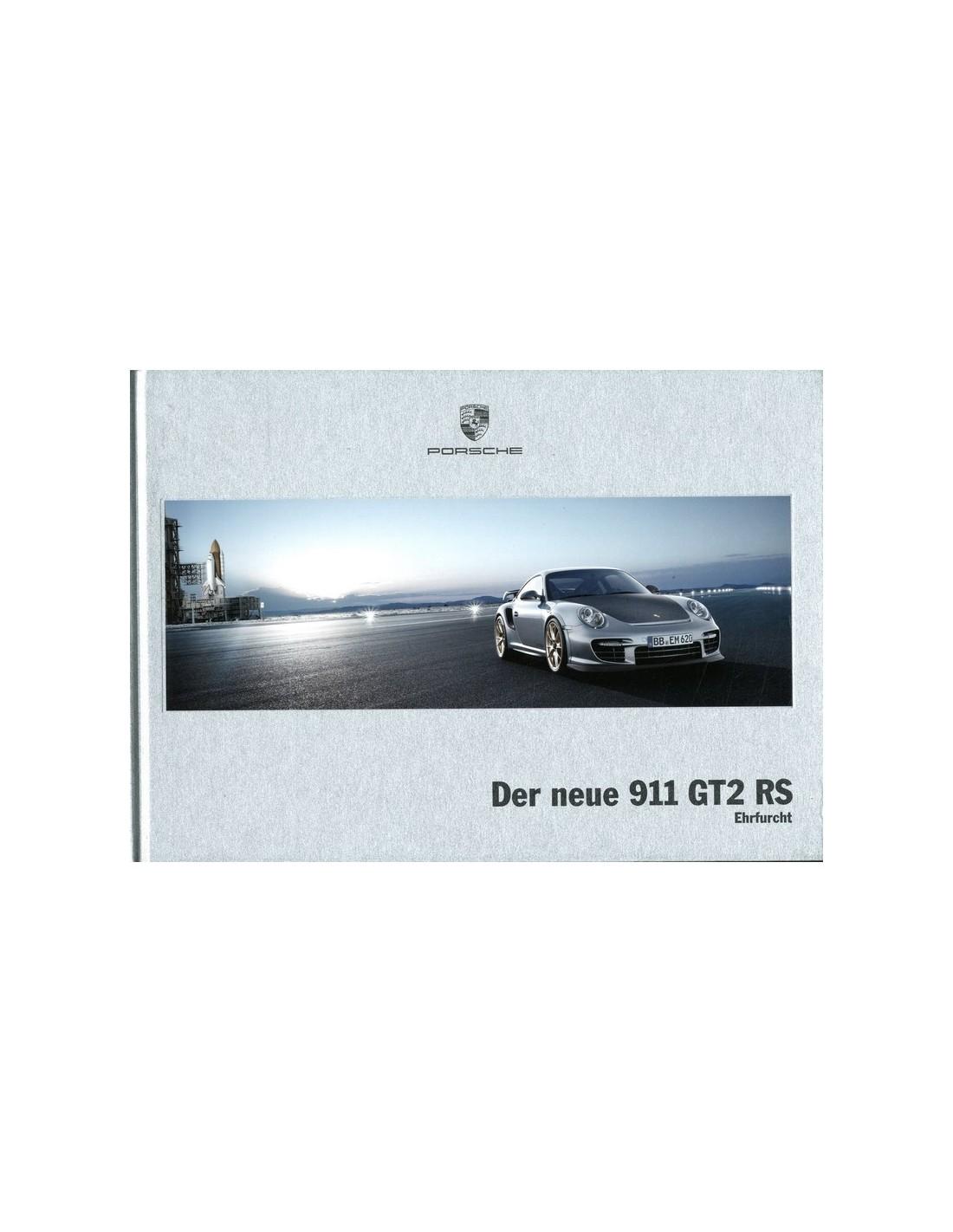 2010 porsche 911 gt2 rs hardcover brochure duits