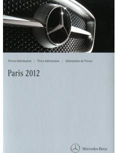 2012 MERCEDES BENZ PROGRAMMA PERSMAP PARIJS ENGELS