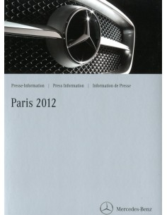2012 MERCEDES BENZ PROGRAMMA PERSMAP PARIJS DUITS