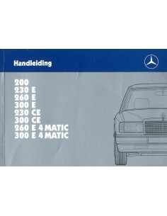 1987 MERCEDES BENZ E KLASSE INSTRUCTIEBOEKJE NEDERLANDS