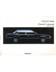 1992 VOLVO 960 INSTRUCTIEBOEKJE ENGELS