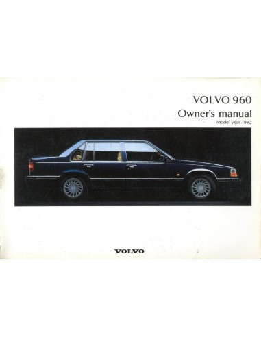 1992 volvo 960 owners manual handbook engels rh autolit eu Automobile Owners Manual Toyota Owners Manual