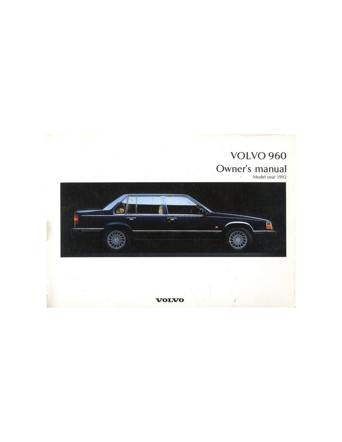 1992 volvo 960 owners manual handbook engels rh autolit eu owners manual volvo 960 owners manual volvo penta 205