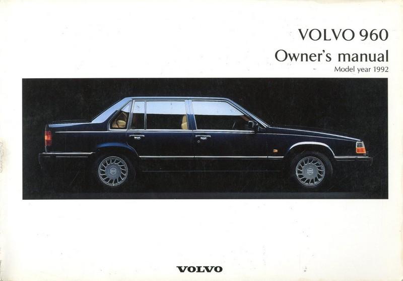 1992 volvo 960 owners manual handbook engels rh autolit eu owners manual volvo penta 205 owners manual volvo 960