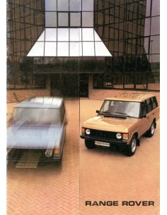 1983 LAND ROVER RANGE ROVER BROCHURE ENGELS