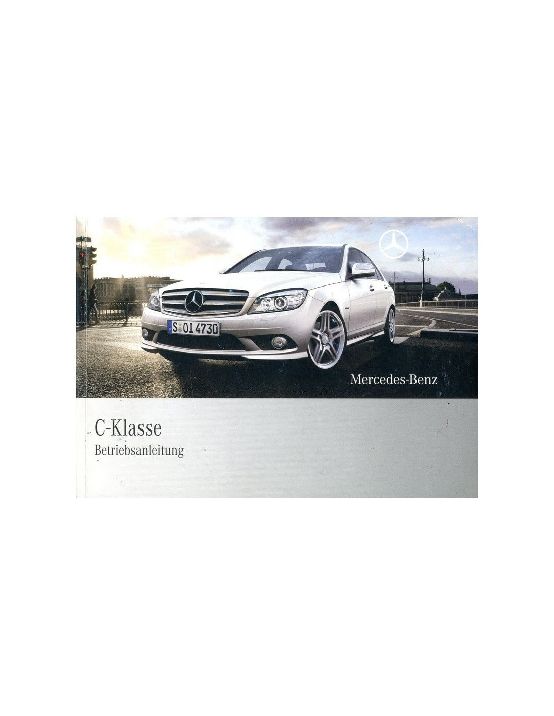 2008 mercedes benz c class owners manual german for Mercedes benz manuals
