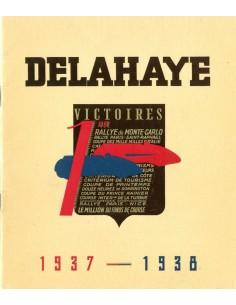 1937 - 1938 DELAHAYE PROGRAMMA BROCHURE FRANS
