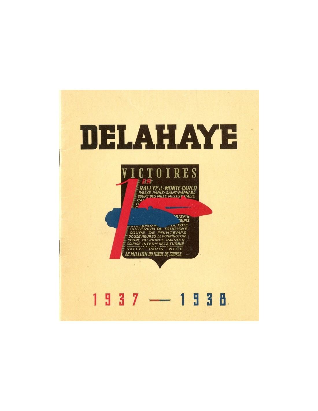 1937 1938 Delahaye Range Brochure French