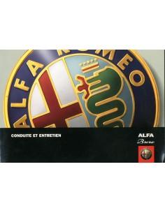 2005 ALFA ROMEO BRERA INSTRUCTIEBOEKJE FRANS