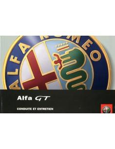 2004 ALFA ROMEO GT INSTRUCTIEBOEKJE FRANS