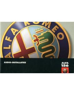 2002 ALFA ROMEO 156 AUDIO INSTRUCTIEBOEKJE NEDERLANDS
