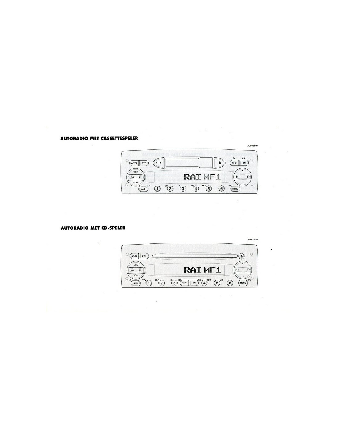 2002 alfa romeo 156 audio owners manual dutch
