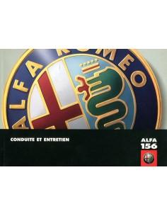 1998 ALFA ROMEO 156 INSTRUCTIEBOEKJE FRANS