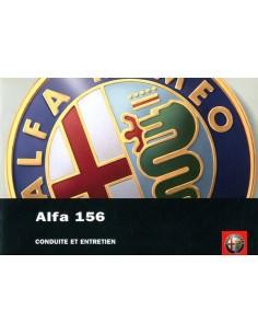 2004 ALFA ROMEO 156 INSTRUCTIEBOEKJE FRANS