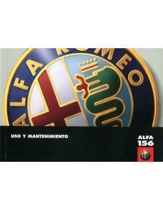 1997 ALFA ROMEO 156 INSTRUCTIEBOEKJE SPAANS