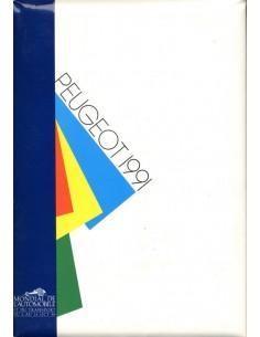 1991 PEUGEOT PROGRAMMA PERSMAP PARIJS ENGELS