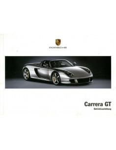 2005 PORSCHE CARRERA GT INSTRUCTIEBOEKJE DUITS