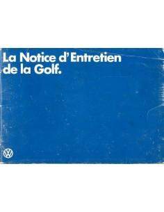 1980 VOLKSWAGEN GOLF INSTRUCTIEBOEKJE FRANS