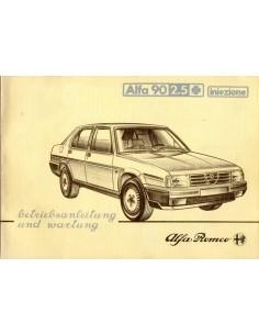 1984 ALFA ROMEO 90 2.5 Q INIEZIONE INSTRUCTIEBOEKJE DUITS