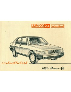 1984 ALFA ROMEO 90 2.4 TURBO DIESEL INSTRUCTIEBOEKJE NEDERLANDS