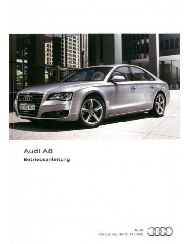 2011 AUDI A8 INSTRUCTIEBOEKJE DUITS