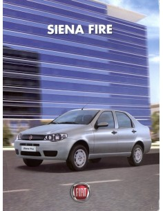2009 FIAT SIENA FIRE LEAFLET BRAZILIAANS