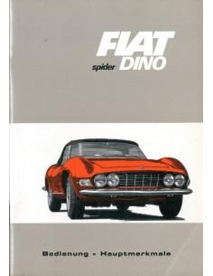 1967 FIAT DINO SPIDER INSTRUCTIEBOEKJE DUITS