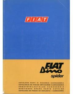 1968 FIAT DINO SPIDER CARROSSERIE ONDERDELENHANDBOEK