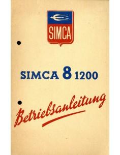 1949 SIMCA 8 1200 INSTRUCTIEBOEKJE DUITS