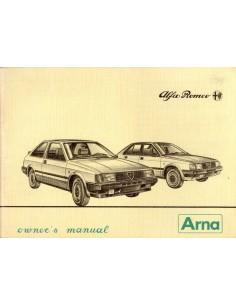 1984 ALFA ROMEO ARNA INSTRUCTIEBOEKJE ENGELS