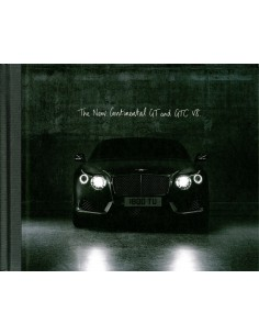 2012 BENTLEY CONTINENTAL GT & GTC V8 HARDCOVER BROCHURE FRANS