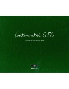 2011 BENTLEY CONTINENTAL GTC & GTC SPEED KLANTEN BOX / BROCHURE ENGELS