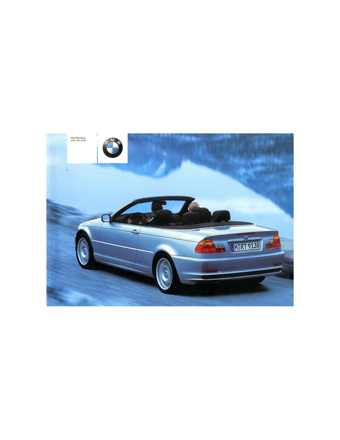2001 BMW 3 SERIES CONVERTIBLE OWNERS MANUAL HANDBOOK DUTCH