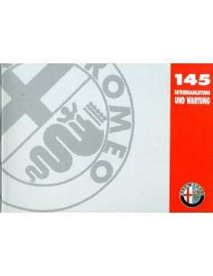 1997 ALFA ROMEO 145 INSTRUCTIEBOEKJE DUITS