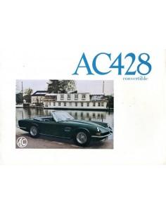 1970 AC 428 CONVERTIBLE BROCHURE FRANS