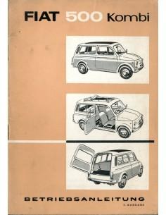 1962 FIAT 500 KOMBI INSTRUCTIEBOEKJE DUITS