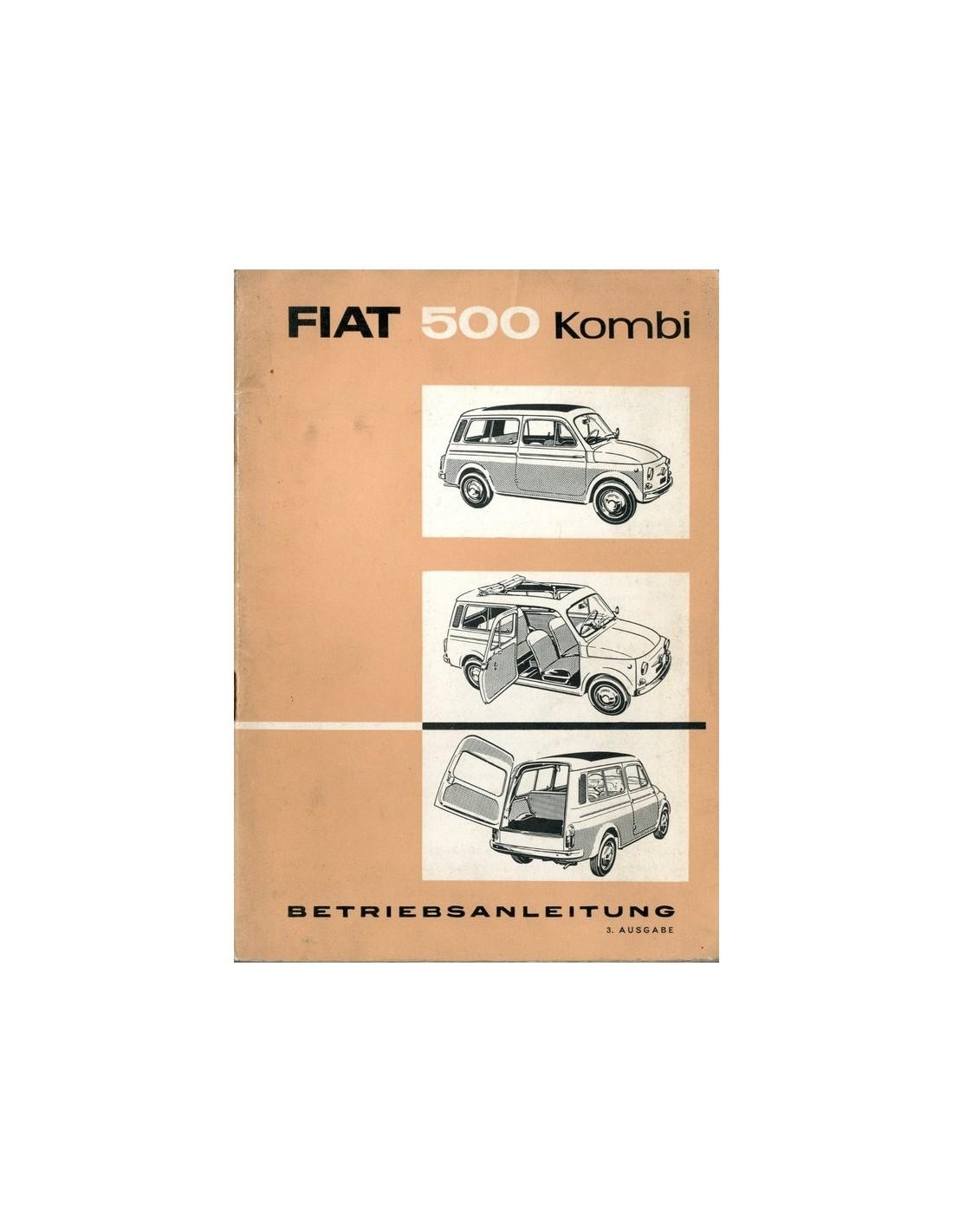 1962 Fiat 500 Kombi Owners Manual Handbook German
