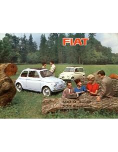 1960 FIAT 500 D SUNROOF GIARDINIERA BROCHURE NEDERLANDS