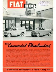 1954 FIAT 1100 I BROCHURE ENGELS